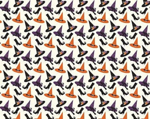 Riley Blake Designs Fab-Boo-Lous Cream fabric