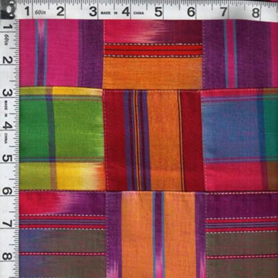 Patchwork pieced Grannys Attic Batik GA-590 Stripe - beautiful rich colors