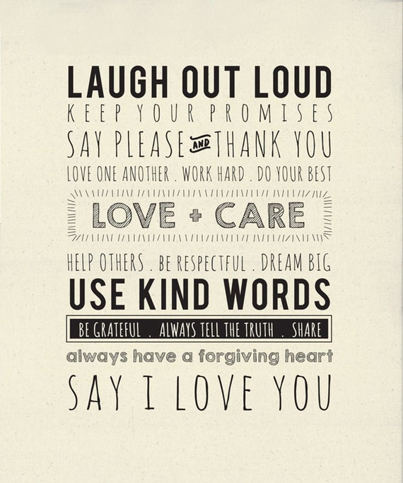Printworks Use Kind Words quilt panel from Sweetwater & Moda Fabrics