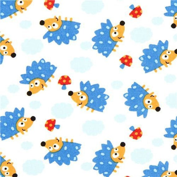 Timeless treasures hedgehog fabric