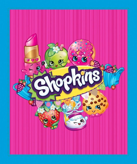 Shopkins Fabric panel By Creative Projects