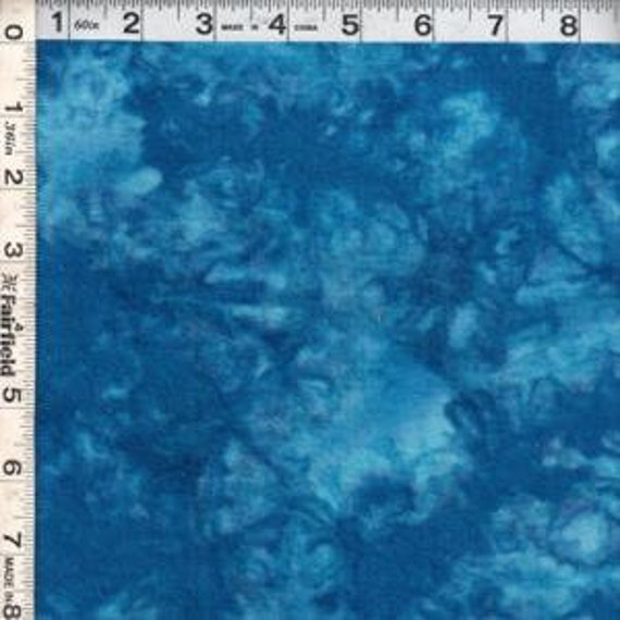 Sunset Key Tie Dye Flannel Fabric  Blue sk112- beautiful rich colors