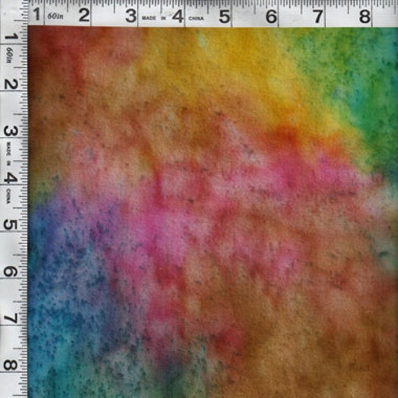 Sunset Key Tie Dye Flannel Fabric - beautiful rich colors
