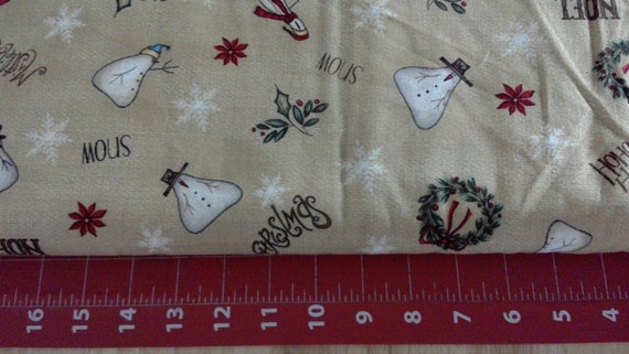 Christmas Whimsy Snowman Toss cotton quilt fabric
