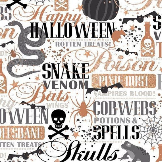 Quilting Treasures Halloween Fabric potions & spells
