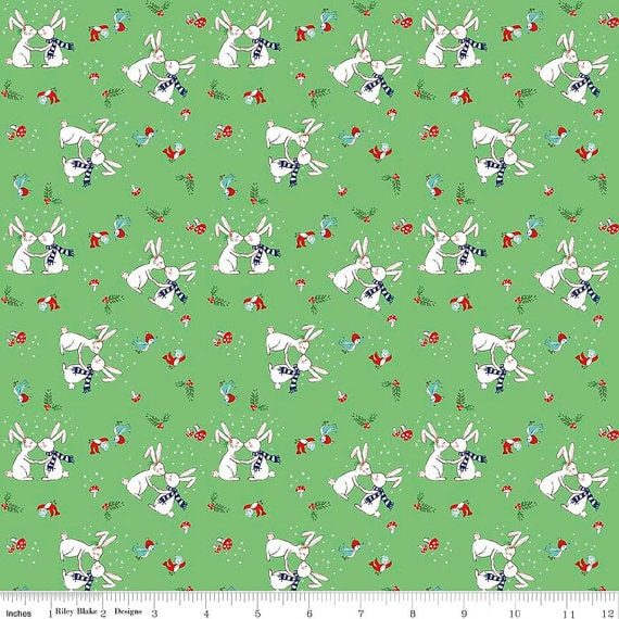 Riley Blake pixie noel christmas fabric