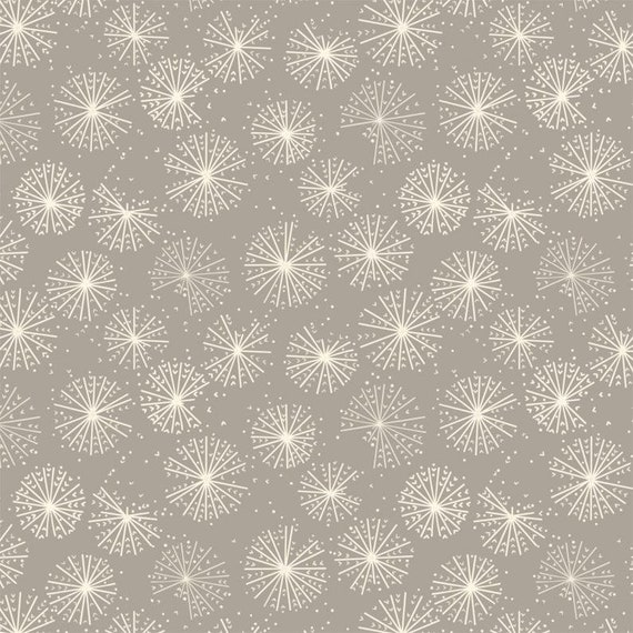 Camelot Cotton Quilt Fabric Dandelion puffs of grey/taupe color - lovely