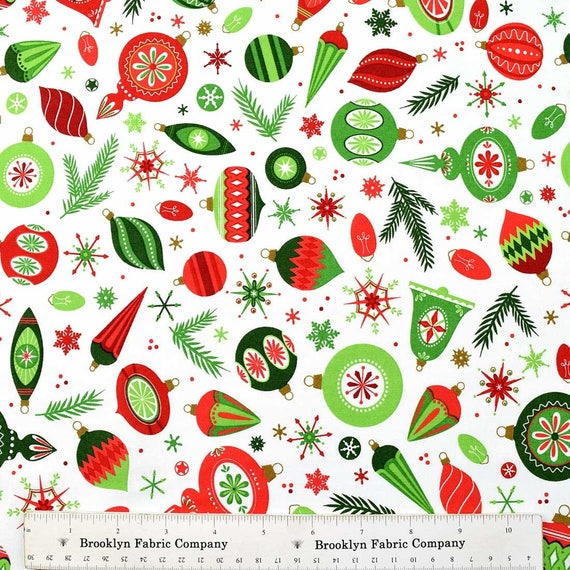 Patrick Lose - Tree Trimmers Christmas fabric - SALE