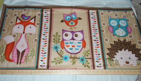 Woodland Critters Panel from SPX Fabrics Baby quilt panel