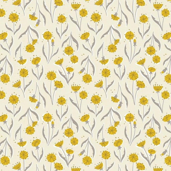 Camelot Cotton Quilt Fabric Petal Pusher Dandelions Color 27180201-02