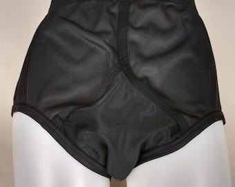 a9f092344 vintage 70s jockey silky satin nylon underwear briefs men s 38 m l y front  1970s inky black swanky guy