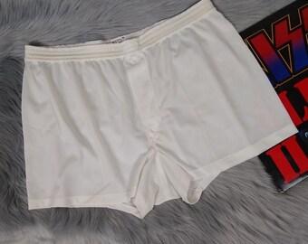 7ad81f6aa vintage 70s jockey silky white sheer nylon underwear briefs men s 38 m l y  front 1970s swanky guy