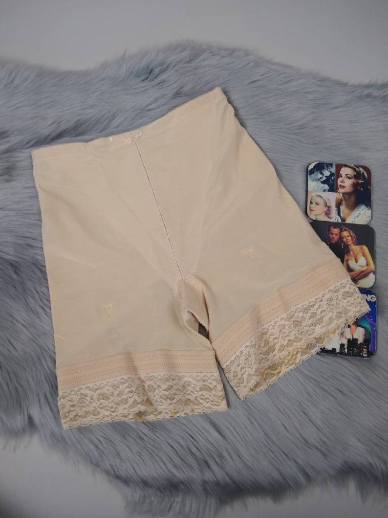 5f66bb63a69d Vintage vassarette girdle panties nude beige powernet XL 70s | Etsy