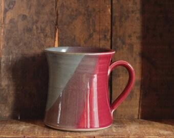 Becher im Segler Genuss von Dorf-Keramik Prince-Edward-Insel PEI
