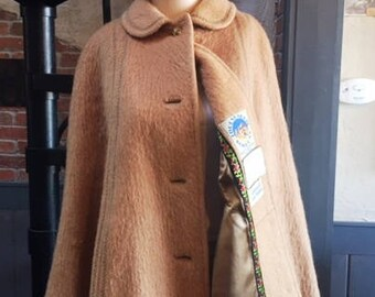 1960's wool and mohair cape made in Austria