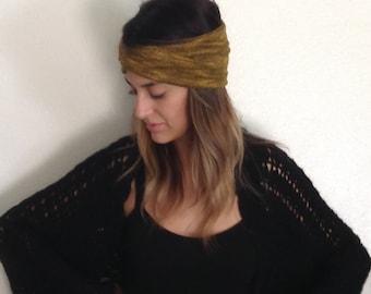 Sweater Knit Turband - Mustard
