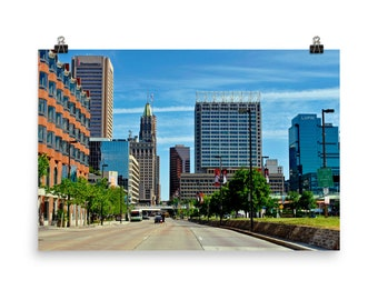 Limited Edition, Baltimore Skyline, from Light Street, Museum, Quality, Poster Print