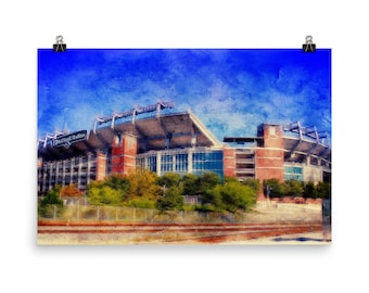 Limited Edition, M and T Stadium, Raven Stadium, Pastel, Museum, Quality, Poster Print