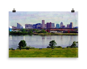 Limited Edition, Baltimore Skyline, Middle Branch, Park, Museum, Quality, Poster Print
