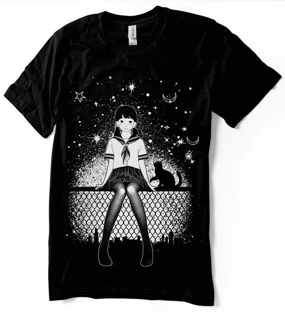 Manga Girl Anime T-Shirt