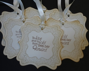 Vintage Inspired Rose Frame Gift/Wish Tree Tags