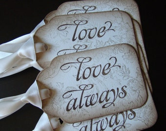 Love Always - Vintage Inspired Gift/Wish Tree Tags