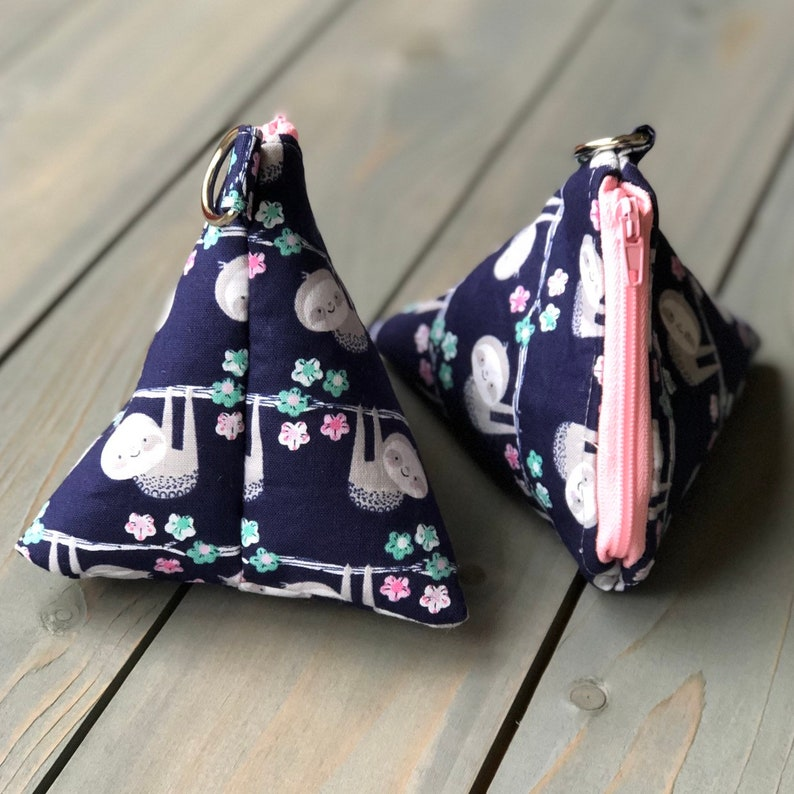 Just Hanging Around Triangle Zipper Pouch