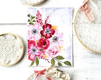 "Floral Art: ""Floral Love"" - 8.5x11 Print"