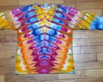 Kids Long Sleeve TIE DYE Green DNA T shirt Youth sizes hippie 2T 4T sm med lg