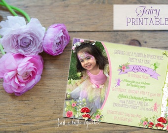 Printable Fairy Invitations Printable, Woodland Fairy Invite, Printable Fairy Invite, Woodland Fairy Garden invitation, Fairy Garden Party