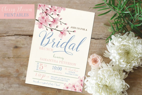 161bad0c42ae Cherry Blossom invite Bridal Shower invitation Cherry