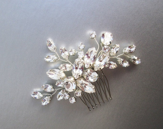 c461e9efc Swarovski crystal bridal hair comb, Wedding hair comb, Swarovski bridal comb,  Rhinestone bridal