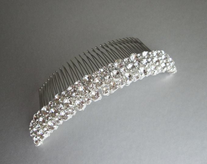 Swarovski bridal comb, Swarovski crystal hair comb, Bridal crystal hair comb, Rhinestone comb, Wedding hair comb, Sparkly bridal headpiece