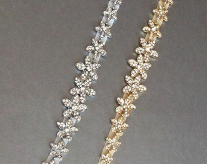 Petite crystal bridal belt, Wedding belt sash, Crystal rhinestone belt, Waist sash, Bridal sash, Bridal belt sash, Bridal crystal belt