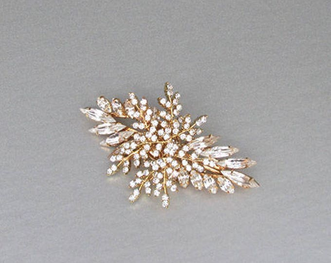 Bridal hair pin, Swarovski crystal bobby pin, Wedding crystal hair clip, Leaf crystal bobby pin, Rhinestone clip,Silver, gold, rose gold pin