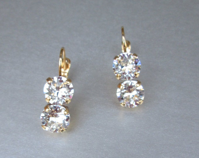 Bridal crystal earrings, Swarovski crystal bridal earrings, Swarovski earrings,  Bridal rhinestone earrings in gold or silver