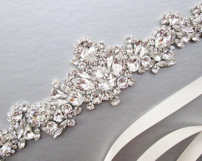 Swarovski Bridal belt sash, Crystal belt in silver or gold, Wedding belt, Waist sash, Swarovski belt, Rhinestone bridal Swarovski sash
