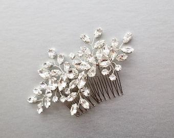Swarovski crystal bridal hair vine, Bridal hair comb, Wedding hair comb, Swarovski bridal comb, Rhinestone bridal comb, Wedding hair vine