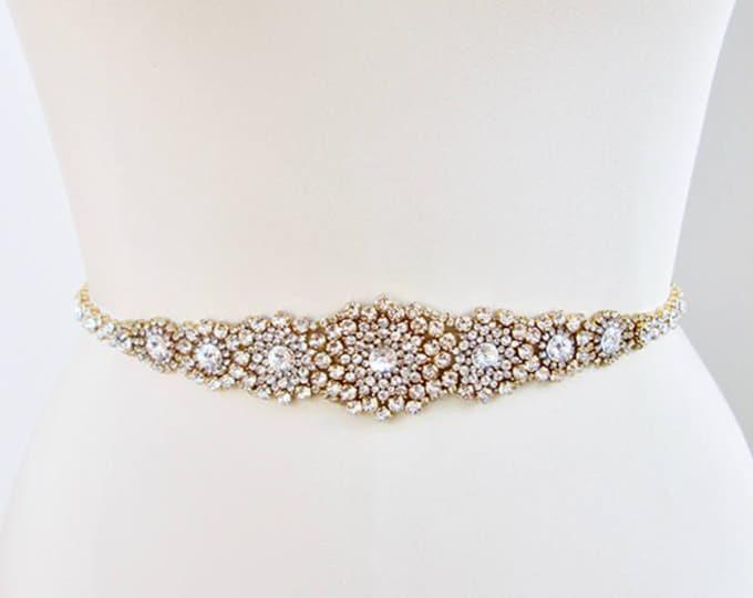 Wedding belt, Bridal belt sash, Crystal belts sashes, Swarovski bridal belt, Bridal beaded rhinestone belt, Bridal crystal belt full length