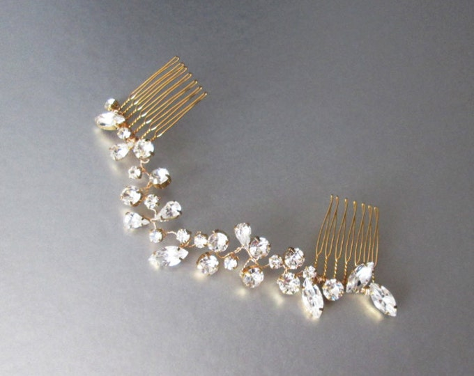 Swarovski crystal hair vine, Bridal hair comb, Wedding hair Swarovski hair vine, Dainty crystal hair vine, Sparkly bridal headpiece