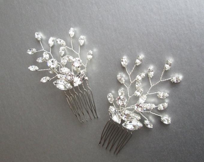 Swarovski crystal hair combs, Bridal crystal hair combs, Wedding hair combs, Swarovski crystal hair combs, Sparkly bridal spray hair combs