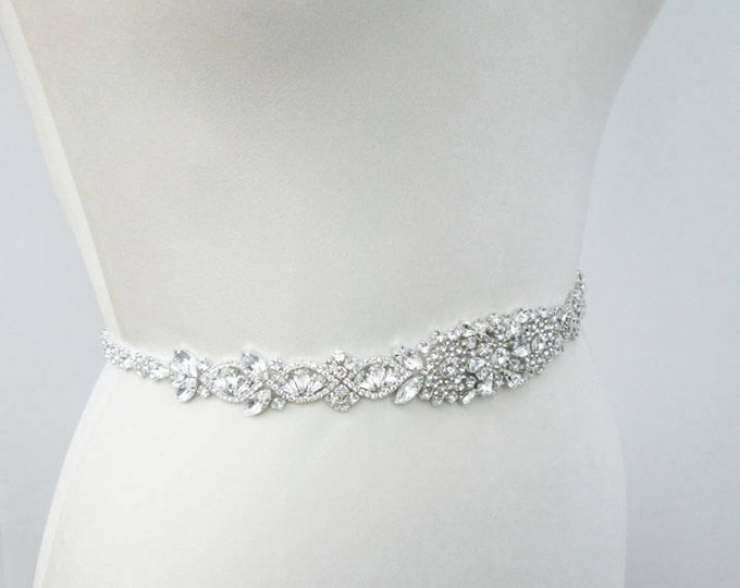 Wedding belt, Bridal belt sash, Crystal belts sashes, Swarovski bridal belt, Bridal beaded rhinestone belt, Bridal crystal belt full length