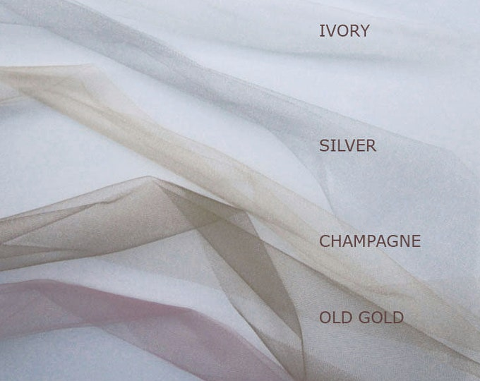 Tulle ribbon swatches, Ribbon color samples, Sheer tulle ribbon color samples