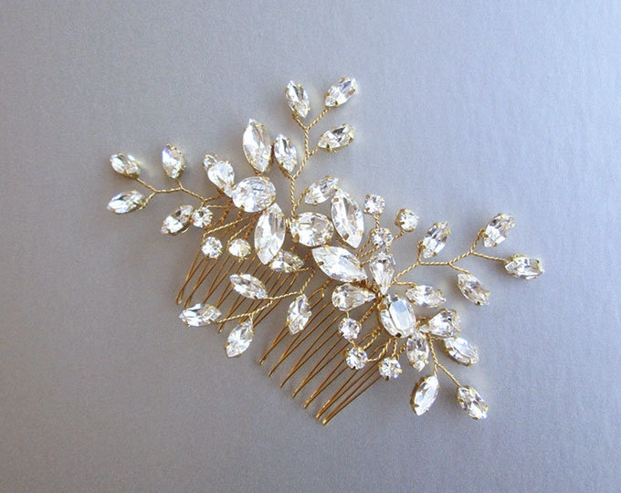 Swarovski crystal bridal hair vine, Bridal hair comb, Wedding hair comb, Swarovski bridal comb, Rhinestone bridal comb, Wedding hair vine