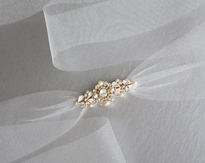 Tulle bridal crystal belt sash, Swarovski bridal tulle belt, Tulle crystal belt sash, Wedding belt sash, Rhinestone and pearl bridal belt