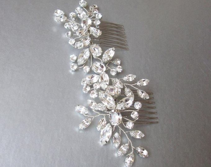 Swarovski crystal hair vine, Bridal comb, Wedding Swarovski hair vine, Crystal hair comb, Bridal comb hair vine in gold, rose gold, silver