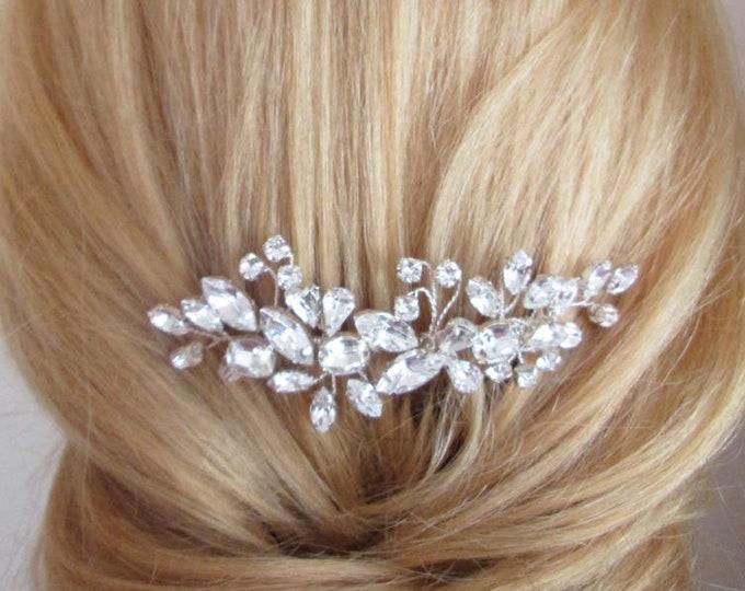 Swarovski crystal hair comb, Bridal crystal hair comb, Rhinestone bridal comb, Sparkly headpiece, Wedding hair comb gold, silver, rose gold