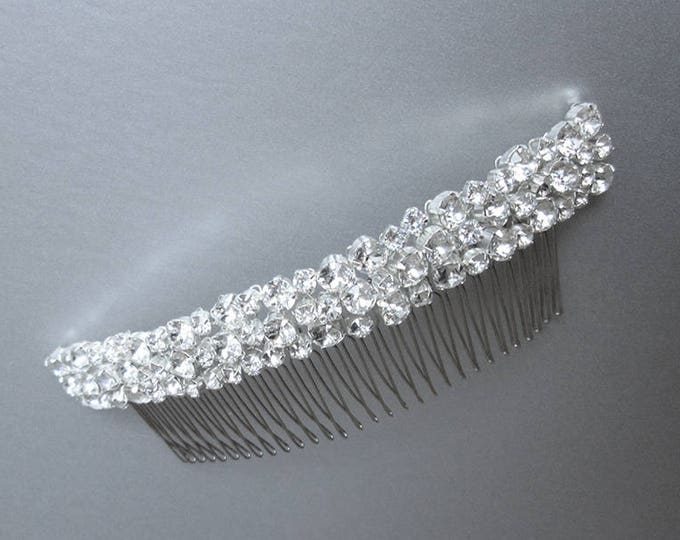 Swarovski bridal comb, Swarovski crystal hair comb, Bridal crystal hair comb, Rhinestone comb, Wedding hair comb, Sparkly bridal headpiece