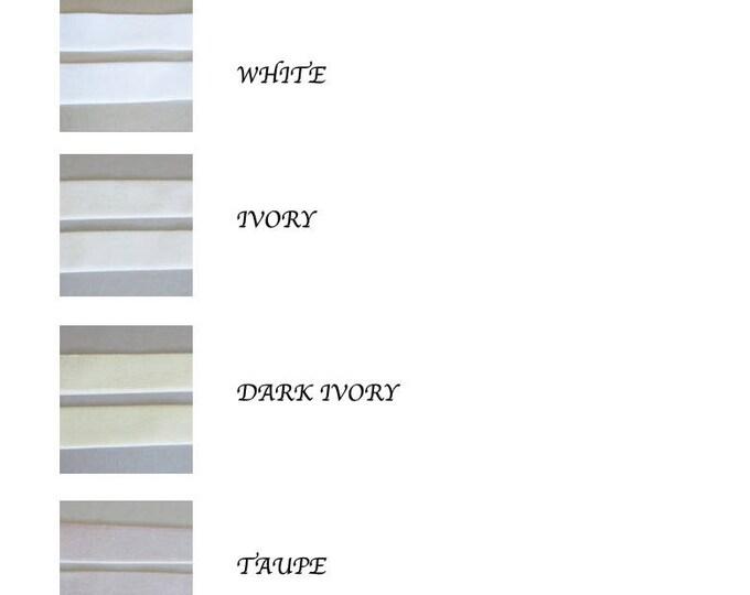 Velvet ribbon swatches, Stretch velvet ribbon color samples, Velvet ribbon color samples