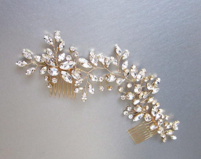 Swarovski crystal bridal hair vine, Bridal hair comb, Wedding hair comb, Swarovski bridal comb, Wedding hair vine in gold, silver, rose gold